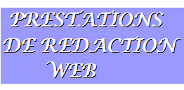 Prestations de rédaction web