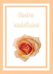 Carte condoléances fleurs 18