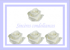 Carte condoléances