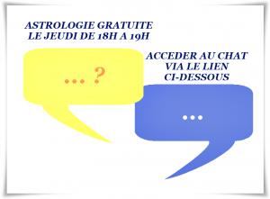 Astrologue gratuit le jeudi de 18h à 19h
